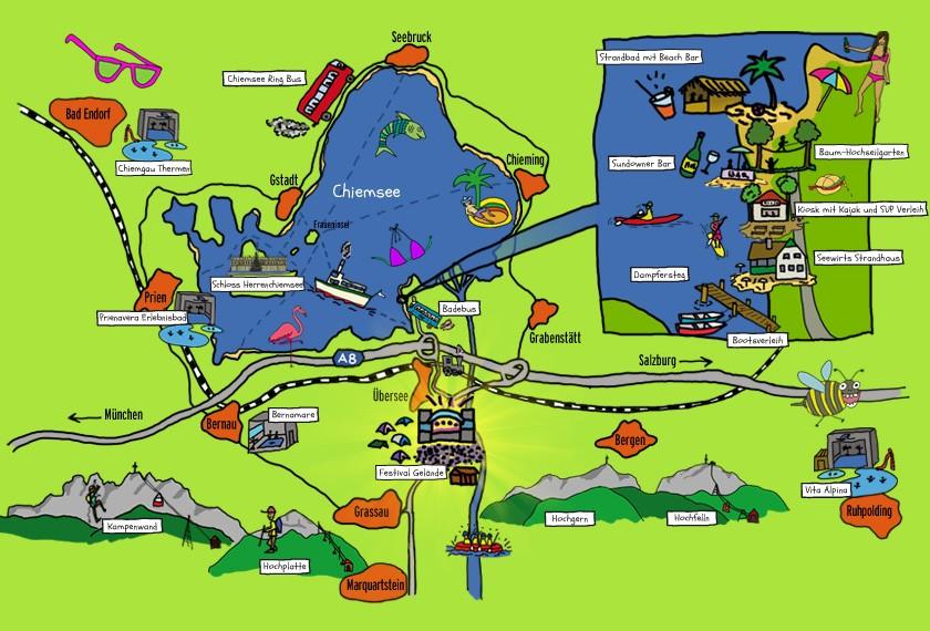 Chiemsee Karte.Freizeit Sport Chiemsee Summer